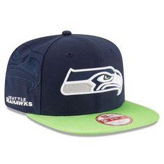 ae35ddd3123 NFL Seattle Seahawks New Era Navy 2016 Sideline Official 9Fifty Snapback Hat