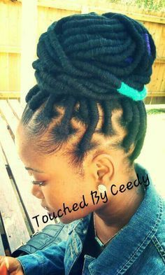 Yarn faux locs at ➨ Natural Hairstyles For Black Women
