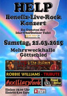 Flyer von HELP 2015 * Benefiz-Live-Rock-Konzert