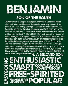 BENJAMIN Personalized Name Print / Typography Print by OhBabyNames