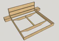 Wood Bed Design, Bed Frame Design, Bedroom Bed Design, Bedroom Furniture Design, Diy Platform Bed Frame, Rustic Platform Bed, Diy King Bed Frame, Diy Furniture Videos, Floating Bed