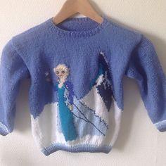 Ravelry: Elsa Frozen pattern by Halla Ben Kids Knitting Patterns, Baby Sweater Patterns, Baby Sweater Knitting Pattern, Knit Baby Sweaters, Knitted Baby Clothes, Frozen Cross Stitch, Frozen Pattern, Frozen Crochet, Barn