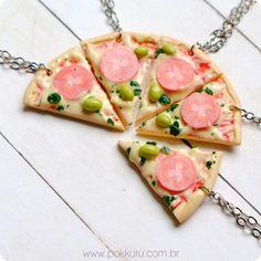 colar pizza margherita - pokkuru - doceria de bijoux