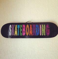 DIY Skateboard String Art