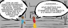 RABISCOS ENQUADRADOS: QUADRINHO CASUAL DE FIM DE ANO