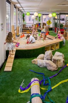 Kids playground design must have safety, goal, and theme. Here are several considerations before constructing a playground. Play Spaces, Learning Spaces, Kid Spaces, Daycare Spaces, Childcare Rooms, Childcare Activities, Interactive Activities, Sensory Activities, Outdoor Activities