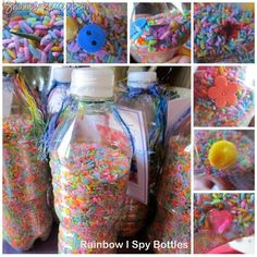 rainbow ispy  sensory bottles  although  really love everything on her blog!