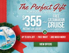 Here is the Perfect Gift for your Loved Ones! Beaches All Inclusive Resorts! Up to $355 Instant Air Credit & FREE Catamaran Cruise! Book Today! http://www.anrdoezrs.net/click-7848170-12220097-14316997980…