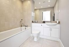 white and beige bathroom - Google Search