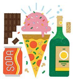 Food Editorial Illustrations on Behance