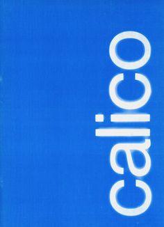 Calico program 2, Holland Festival Stichting Eigentijdse Dans, 1974