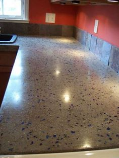 Concrete Countertops For The Kitchen   A Solid Surface On The Cheap. Glass  Concrete CountertopsDiy ...