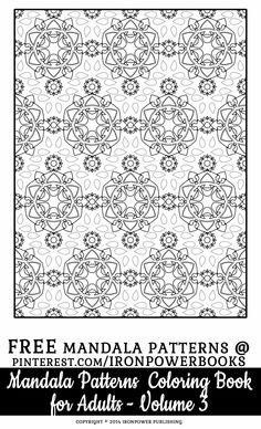 Unique Pattern Coloring Pages for Adults | FREE from the book Mandala Pattern Coloring Book for Adults - Volume 3 available with 49 more patterns at http://www.amazon.com/Mandala-Pattern-Coloring-Pages-Adults/dp/1500162450  | Please use freely for personal non-commercial use