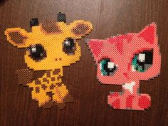 LPS Littlest Pet Shop Hama Perler Bead Giraffe Cat