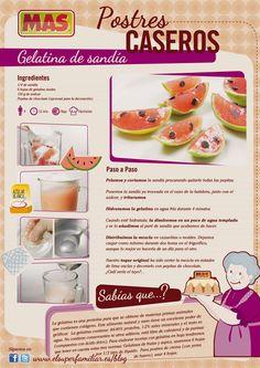 Esta divertida #receta de gelatina de sandía puedes hacerla cualquier tarde con tus hijos, ¡lo pasaréis genial! #InfoReceta #Gastronomia