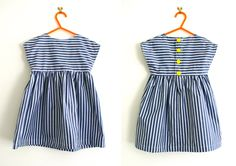 Striped Tunic Dress Pattern (Free) in sizes 18-24 mos and 2T-3T.