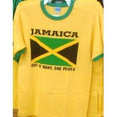 Kids Jamaica Out of Many Ringer T-shirt