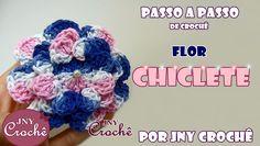 PAP Flor de crochê Chiclete > https://www.youtube.com/watch?v=lxQOdOwcBQw