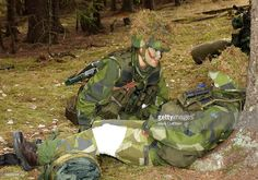 Crown Princess Victoria Of Sweden Undertakes A First Aid Course During Her 3-Week Basic Military Training At Swedint (Swedish Armed Forces International Centre), Near Stockholm. . (Photo by Mark Cuthbert/UK Press via Getty Images)
