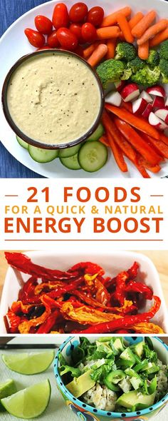 21 Foods for a Quick & Natural Energy Boost Quick Healthy Meals, Healthy Snacks, Healthy Eating, Healthy Recipes, Simple Meals, Quick Snacks, Healthy Drinks, Snack Recipes, Clean Eating Recipes
