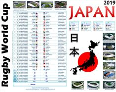 Excel Files - Jpeg/PDF posters (other Timezones) - Set 2 Set 3 Create your own interesting World Cup Posters for Japan 2019 now usin. Create Your Own World, Create Yourself, Rugby World Cup, Japan, Templates, Poster, Stencils, Vorlage, Japanese
