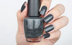 """Liv"" in the Gray from the OPI Washington DC fall/winter 2016 collection. Nail art and swatches of the whole collection on www.nailsbyic.com"