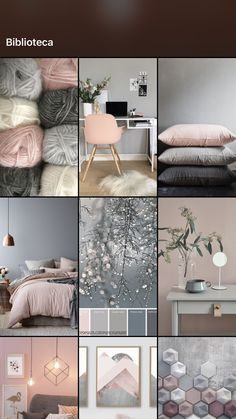room decor Bedroom colors - & 70 Comfortable Living Room Colors With Grey 39 Room Decor Bedroom, Living Room Decor, Bedroom Decor Colours, Bedroom Decor Grey Pink, Rose Gold And Grey Bedroom, Calming Bedroom Colors, Pink Bedrooms, Bed Room, Diy Bedroom