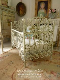 French dollhouse miniature furniture