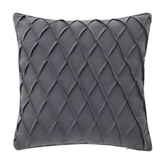 A sophisticated small diamond pattern in taupe, reversing to a textured scroll pattern. Finished with a suede cord trim. Waterford Bedding, Linen Comforter, Bed Comforter Sets, Outdoor Throw Pillows, Decorative Throw Pillows, Scroll Pattern, Cool Beds, Throw Pillow Sets