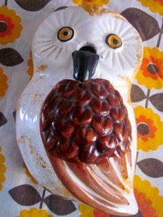 Vintage Owl String Holder.
