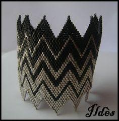 bracelet_zigzag_noir_argent_1
