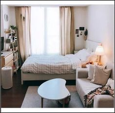 Future Home Interior .Future Home Interior Small Room Bedroom, Home Bedroom, Room Decor Bedroom, Small Bedroom With Couch, Bedroom Ideas For Small Rooms Cozy, Small Bedroom Inspiration, Small Room Interior, Master Bedroom, Bedroom Couch