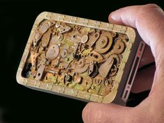 Steampunk I phone case for I phone 4 and 4S the first by Blujoos, $64.00
