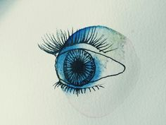 Eye, acuarela y tinta. Anna Bolena