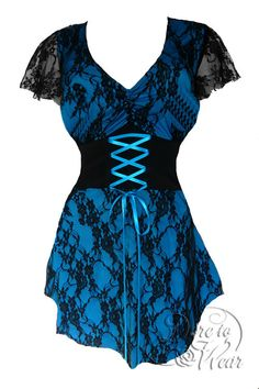 Dare To Wear Victorian Gothic Women's Plus Size Sweetheart Corset Top Turquoise