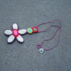 Crochet Pendant necklace by gitte