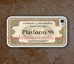 iPhone 4 Case, iphone 4s case, Hogwarts Express Train Ticket white iphone 4 case, harry potterFrom belindawen