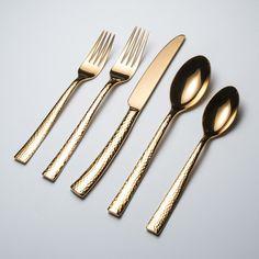 Hampton Forge - 18/0 Paris Hammered Titanium // Set of 20 (Gold)