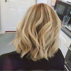 Natural blonde bob
