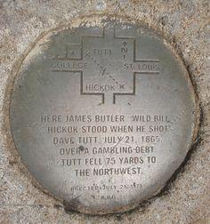 "Where ""Wild Bill"" Hickock shot Dave Tutt over a gambling debt, Springfield Missouri town square"