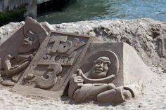 By Flickr user Andy Fitzsimmons. Announcing movie releases with sand sculptures is nothing new to Disney. They commissioned this great sculpture at the Cannes Film Festival for the 2010 premiere of Toy Story 3.