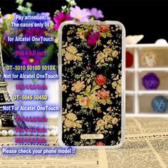 Soft TPU Silicone Mobile Phone Case For Alcatel OneTouch Pixi 4 5.0'' OT-5010 5010D 3G Version Cover Colorful Flower Shell