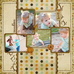 FALL SCRAPBOOK PAGE IDEA- I like the layout, maybe our trip to t pumpkin patch...