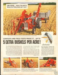 1961 Ford 601 Select O Matic Farm Tractor Large Magazine Ad | eBay