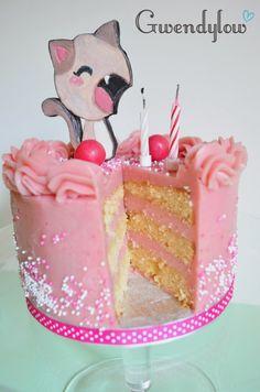 Tarta Gatito sabor a chicle - ¡¡¡Receta!!!