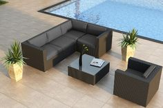 5-Pc Urbana Sectional by Harmonia Living - modern - patio - other metro - by PatioProductions.com