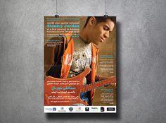 Poster for Stanley Jordan Live Concert Marketing Materials, Printed Materials, Layout Design, Typography, Concept, Graphic Design, Live, Illustration, Artist
