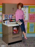 Barbie enjoying the new washing machine.  Hey Sailor Greeting Cards