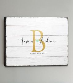 CANVAS Wedding Guest Book Wood  30-150 Guests  by ThePrintCafe