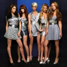 Girls Aloud.... love Kimberly Walsh's dress